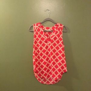 41 Hawthron Pink Printed Blouse= Small